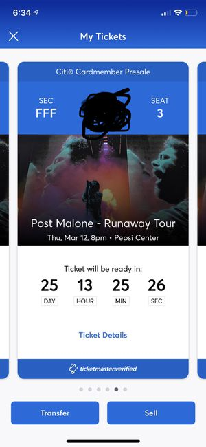 2 Post Malone Floor seats section FFF for Sale in Denver, CO