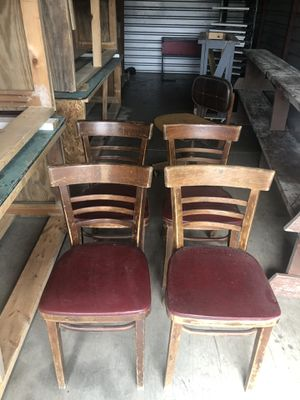 Vintage Bistro chairs, 4, original red padded seats for Sale in IND HBR BCH, FL