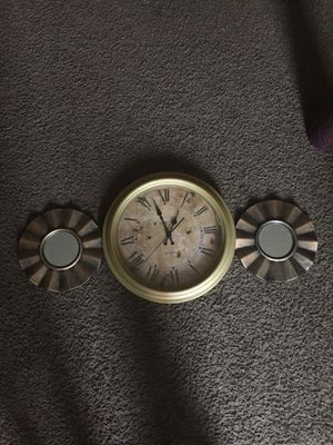 Home decor....2 mirrors and wall clock for Sale in Columbus, OH