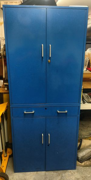 Tall metal cabinet with drawer for Sale in University Place, WA