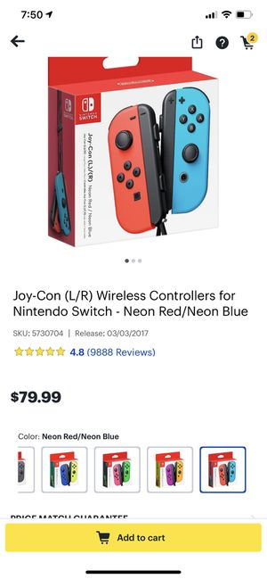 NINTENDO SWITCH JOY-CON CONTROLLERS for Sale in Columbia, MD