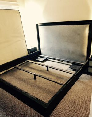 Beautiful black & grey Z-Gallerie King Bed Frame (aka Eastern King). Comes with boxes. $3,548.00 NEW asking $320 firm. No much use, lived in our gues for Sale in Laguna Beach, CA