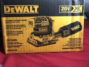 DEWALT 20-Volt MAX Cordless Brushless 1/4 Sheet Sander (Tool-Only) for Sale in Fullerton, CA