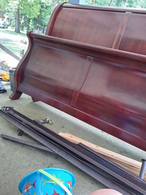 Sleight bed metal frame, headboard and footboard for Sale in Enola, PA
