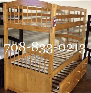 Brand New Twin Triplex Bunk Bed for Sale in Chicago, IL