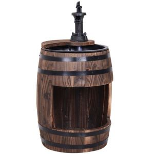 2-Tier Wooden Water Pump Fountain for Fun Garden Decor with Planting Flower Box Base & a Durable Sturdy Design for Sale in Los Angeles, CA