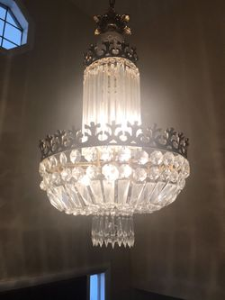 Crystal Chandelier- 1968 Art Deco for Sale in Silver Spring,  MD