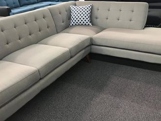 New Mid Modern Century Sectional Couch With Chaise Only $50 Down Payment for Sale in Torrance,  CA