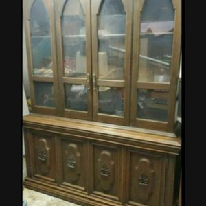 Large 1960's Solid Wood China Cabinet for Sale in San Diego, CA