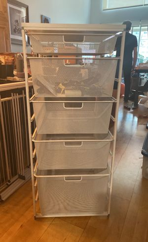 Elfa Utility/Closet White Mesh Drawers for Sale in Los Angeles, CA