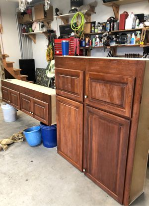 2 Cherry Kitchen Cabinets for Sale in Sumner, WA
