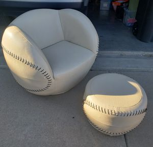 Kid's Baseball swivel chair and ottoman set for Sale in Saginaw, TX