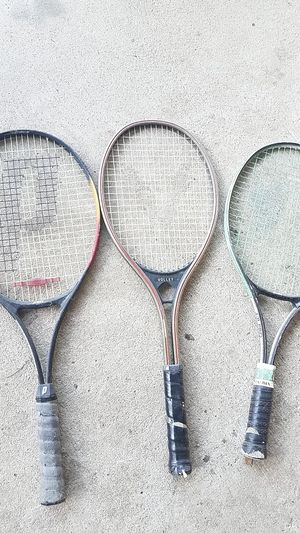 different Prince and Volley tennis racket $10 each for Sale in Grand Prairie, TX