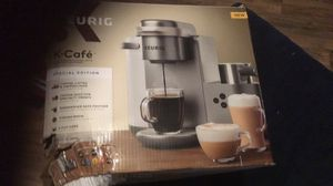 Keurig K-Cafe C Single Serve K-Cup Pod Coffee, Latte and Cappuccino Maker, Nickel for Sale in Franklin, GA