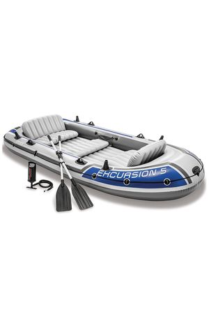 Intex Excursion Inflatable 5 Person Boat Series for Sale in Midlothian, VA