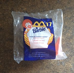 Vintage McDonald's Happy Meal 1999 #17 Barbie Working Woman Barbie Figurine with Base - Brand New/Sealed for Sale in Ingleside, IL