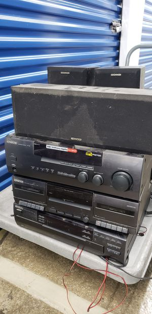 Kenwood Amplifier/ Receiver, CD Player, Cassette Player and Speakers System for Sale in Washington, DC