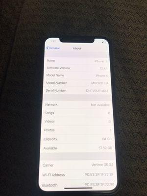 Apple iPhone X 64gb unlocked for Sale in Gallatin, TN