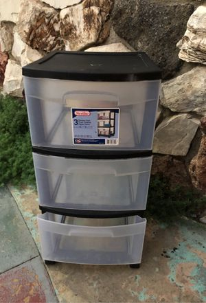 3 drawer plastic storage for Sale in Downey, CA