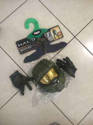 Halo master chief make and gloves costume for Sale in FL, US