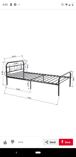 NIB twin heart bed frame for Sale in Logan, OH