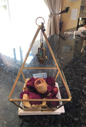 Pyramid metal with glass Chakra plant holder for Sale in Palo Alto, CA