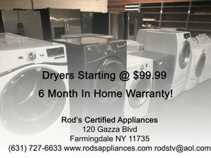 Rods Certified Appliances for Sale in South Farmingdale, NY