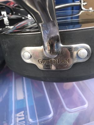 GreenPan Set Of 8 - 2 pots with lids, 2 pans and a Sauté Pot with lid - Good condition, but have some wear. $50 Firm for Set for Sale in Raleigh, NC