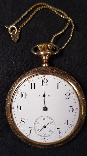 Elgin pocket watch engraved gold working for Sale in Enumclaw, WA
