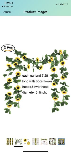 Sunflower garland (2 piece) and happy birthday sign for Sale in Sacramento, CA