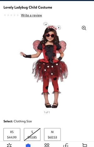 Lady bug child costume size medium comes with wings and tutu for Sale in Grand Prairie, TX