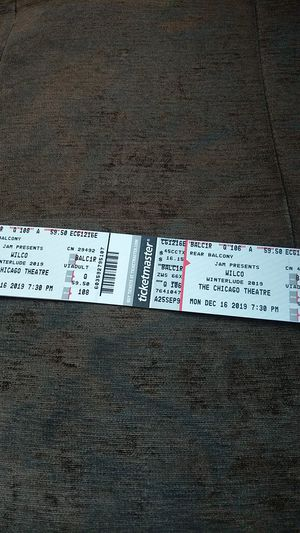 Wilco Tickets for Monday, December 16 @ Chicago Theatre for Sale in Chicago, IL