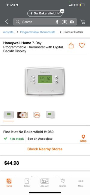 Thermostat with digital New in box for Sale in Bakersfield, CA