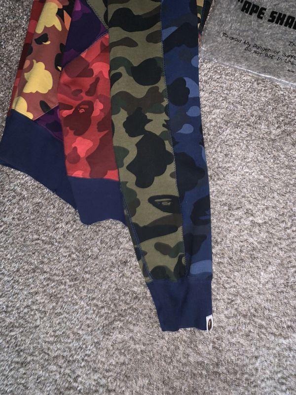 Multi Color Bape Hoodie