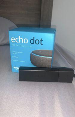 Echo Dot & Amazon Firestick for Sale in Clinton,  MD