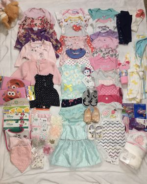 Bundle of Baby Girl Clothes NB-3 Months for Sale in Atlanta, GA