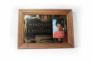 Windsor Canadian Whisky Mirror Sign w/ Wooden Frame- Bar Decor -Collectible Sign -Home Wall Decor, Wall Hanging Beer Sign, Man Cave Bar Room for Sale in Los Angeles, CA