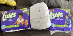 Wipe Warmer with free diapers size 3 and 4 for Sale in Chicago, IL