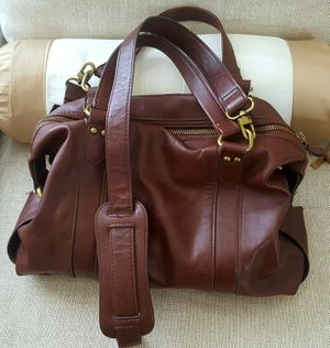 Beautiful Vegan Rich Brown Ladies Woman Women Purse Satchel Crossbody Handbag Tote Bag + Extra Straps + Zippered Compartments Pockets Storage for Sale in Monterey Park, CA