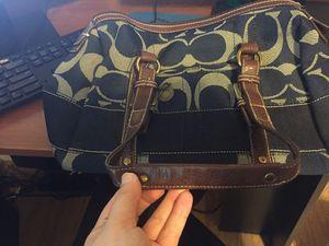 Blue Denim Coach Bag for Sale in Sebring, FL