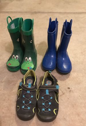 Rain boots and sandals -size 11 for Sale in Salem, OR