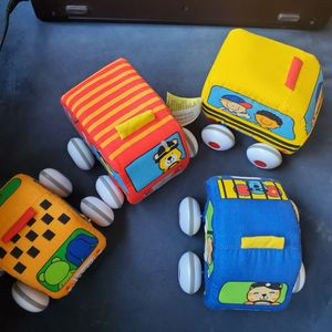 Mellissa & Doug Set of 4 Plush cars on wheels for Sale in Manchester, CT