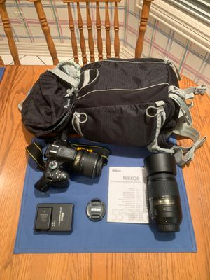 Nikon D5200 DSLR Camera, Nikon 18-55mm and 55-300mm Lenses for Sale in Annetta North, TX