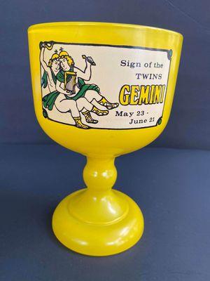 Yellow Gemini Zodiac Goblet for Sale in Midland, MI