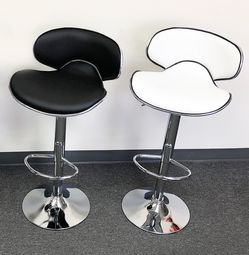 "$45 each New in box barstool chair pu leather adjustable hydraulic swivel bar stools seat height 23-31"" for Sale in Pico Rivera,  CA"