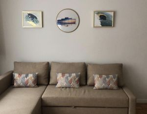 Wall decor for sale! 2 frames and round mirror for Sale in New York, NY