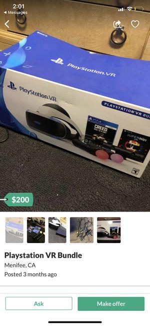 PlayStation VR Bundle for Sale in Menifee, CA