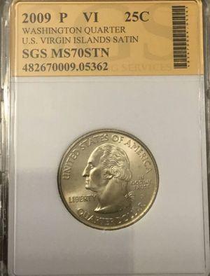 Satin American Virgin Islands US Territorial Quarter 2009 P Coin for Sale in Oakland, CA