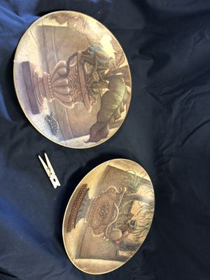 Antique plates with painted design for Sale in Tacoma, WA