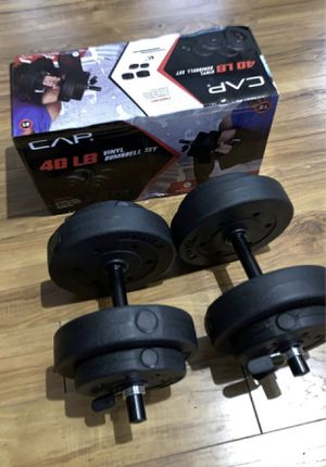40 pound dumbbell set with box like new for Sale in Arlington, TX